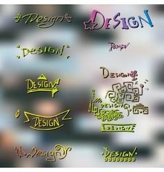 Handmade hand lettering design vector