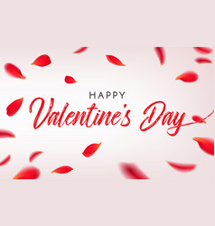 happy st valentine s day greeting card with vector image