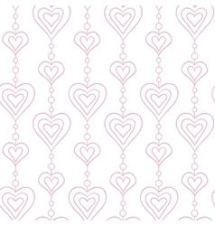 hearts and pearls seamless pattern vector image