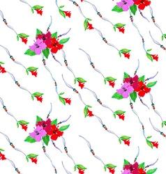Hibiscus pattern5 vector image