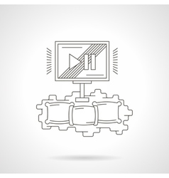 Home cinema theater detailed line icon vector image