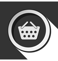 Icon - shopping basket with shadow vector