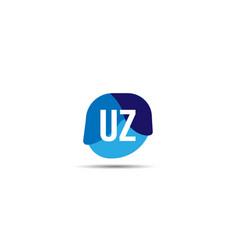 initial letter uz logo template design vector image