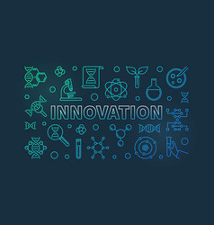 Innovation and science colored outline vector