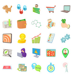 It specialist icons set cartoon style vector