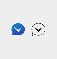 Letter v chat logo design template vector