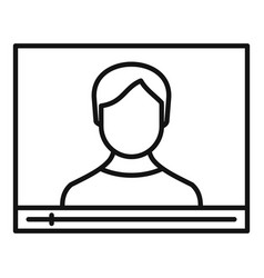 live online learning icon outline style vector image