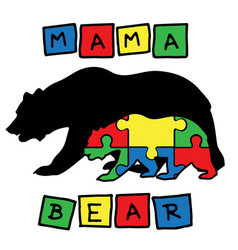 Mama bear on white background vector