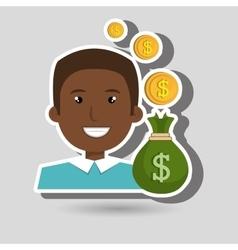 Man bag money currency vector