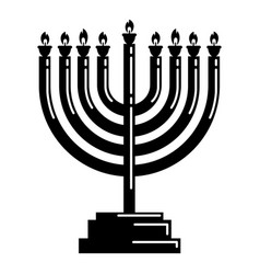 menorah icon simple style vector image