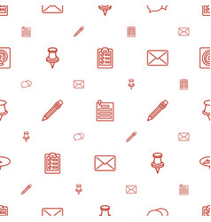 Message icons pattern seamless white background vector