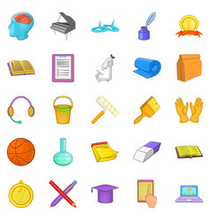 New knowledge icons set cartoon style vector