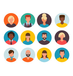 people avatars profile id images cv head of vector image