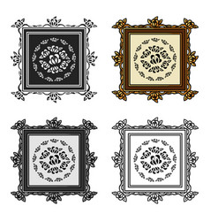 Picture icon in cartoon style isolated on white vector