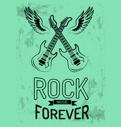 Rock music forever icon vector