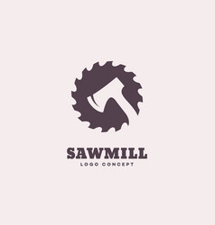 Sawmill logo vector