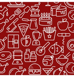 Seamless red background vector