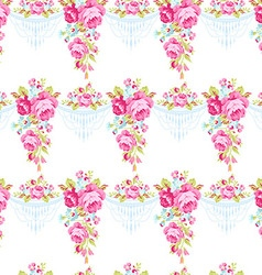 Seamless vintage pattern with English roses vector image