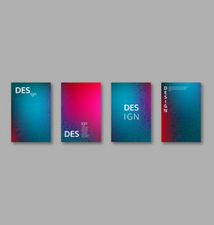 set of abstract bright colors minimal cover design vector image