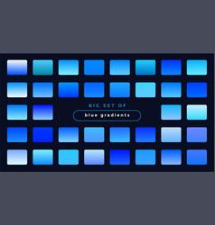 Set smooth blue gradients vector