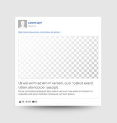 social photo frame transparent modern vector image