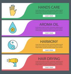 Spa salon web banner templates set vector