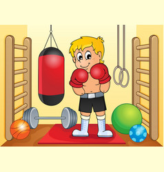 Sport and gym theme image 6 vector