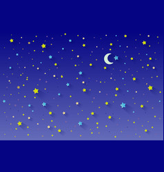 stars in night sky scenery background can be used vector image