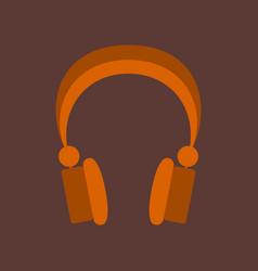 Technology gadget in flat design headphones vector