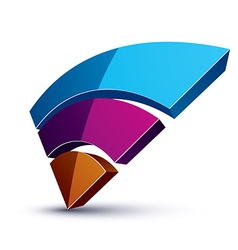 Three-dimensional colorful graphical interface vector image