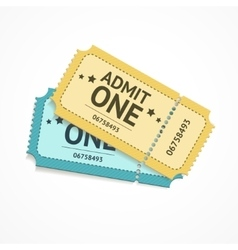 two colour ticket vector image