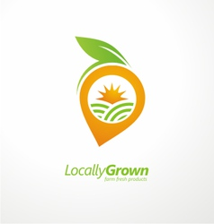 Vegetable logo design concept layout vector