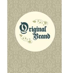 Vintage Original Brand vector