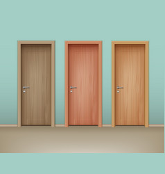 Wooden doors vector