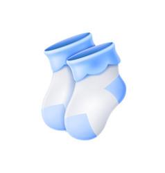 wool basocks newborn bacute socks 3d vector image