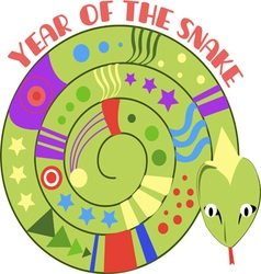 Year Of Snake vector