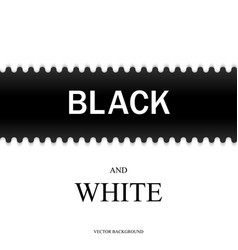 black and white with horizontal line vector image vector image