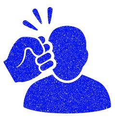 Crime violation fist strike grunge icon vector