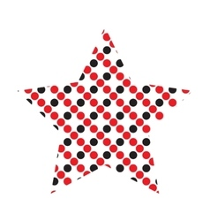 Dotted Five Pointed Star Icon vector image vector image