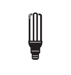 energy saving fluorescent light bulb silhouette vector image