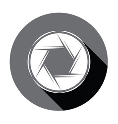 flat camera icon with shadow vector image vector image