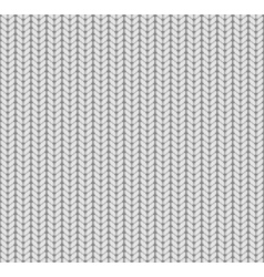 Knitted Seamless Pattern White vector image vector image