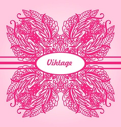 Ornamental round lace flower vector image vector image