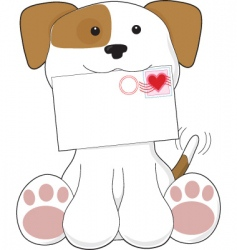 puppy love letter vector image