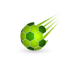 soccer ball isolated on a white background sport vector image vector image