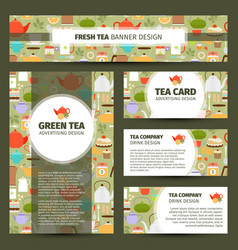 teapots and cups pattern corporate identity vector image