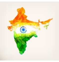 Watercolor indian map vector image vector image