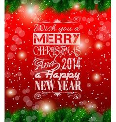 2014 Christmas Vintage typograph design vector image