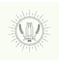 Beer brewery emblems vector image