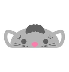 Cute furry cat animal vector